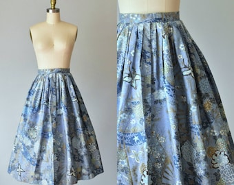 Doris 1950s rockabilly butterflies circle skirt, high waisted skirt, pinup