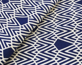Deco hand printed fabric panels in organic cotton/hemp fabric