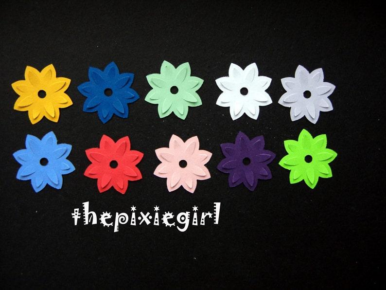 MARTHA STEWART WATERLILY POP UP FLOWER PAPER PUNCHES 50 DIE CUTS PUNCHIES