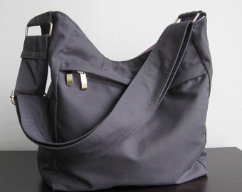 Sale - Grey Cotton Hobo Bag f99007cdeac19
