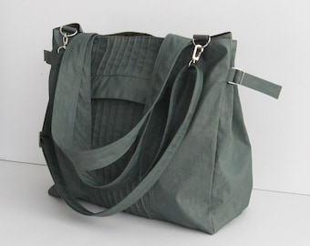 cacd0c68ea1 Sale - Grey Water-Resistant Bag, diaper bag, gym bag, crossbody, tote,  purse, shoulder bag, messenger bag, everyday bag, women - Carrie