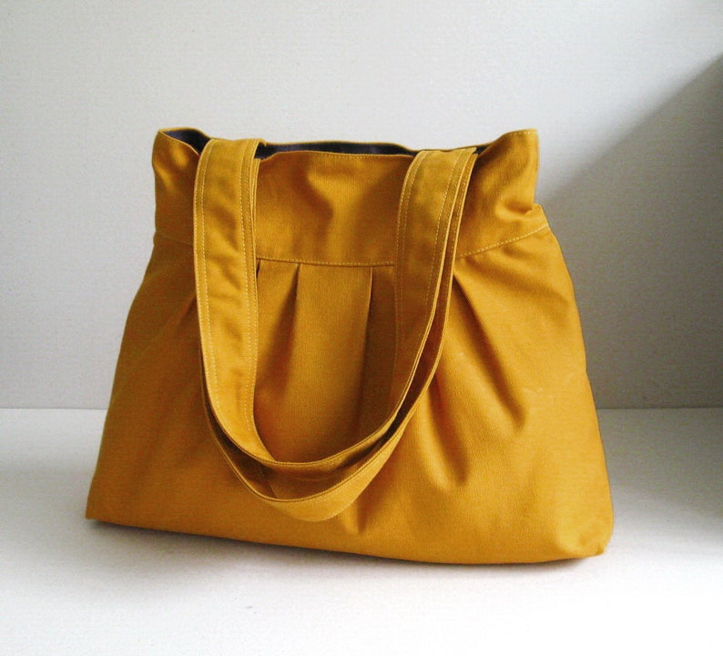 Sale Mustard Canvas Bag purse tote shoulder bag diaper  a38b04c9c66d0