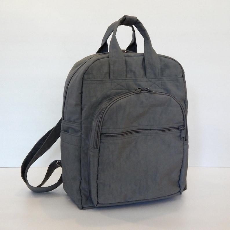 Sale  Grey Water Resistant Nylon Backpack  School bag image 0