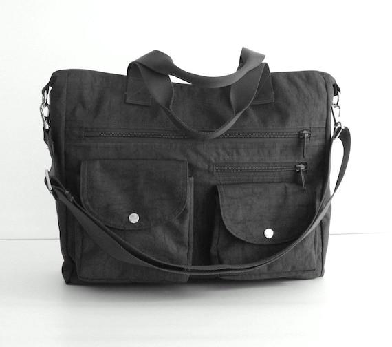 laptop bag handbag messenger bag CLAIRE Sale zipper closure Water Resistant Nylon Bag in Dark Teal