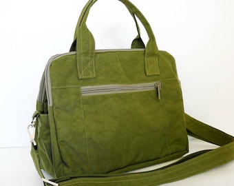 Sale - Dark Olive Water-Resistant bag - Shoulder bag, Messenger bag, Tote, Travel bag, Crossbody, Women, - ELIZA