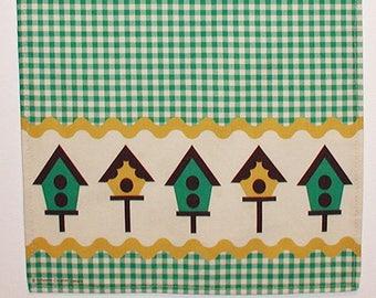Birdhouses Tea Towel