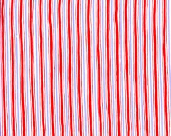 Dena Designs 1/2 Yard 'Rambling Rose' Red Pinstripe