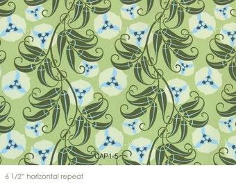 Amy Butler Nigella 1/2 Yard Sateen Home Deco HD-ABS4 Passion Vine Celery Oop
