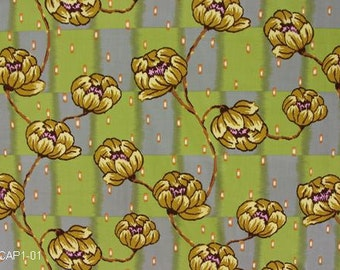 LOTUS by Amy Butler Water Lily Brown Large Scale Print