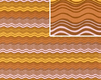 Midwest Modern II by Amy Butler AB-31 Ripple Stripe Rust LIMITED