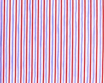 Dena Designs 1/2 Yard 'Rambling Rose' Blue Pin Stripe