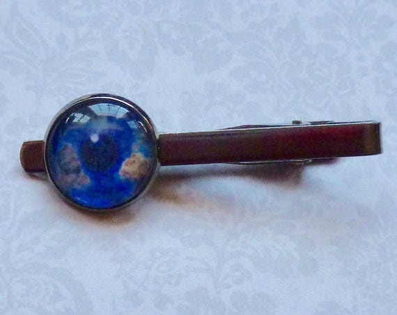 Celestial Earth Eye Gunmetal Tie Bar Tie Clip