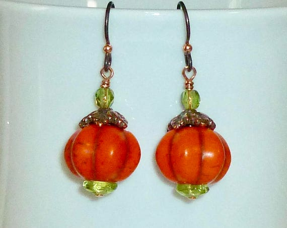 Autumn Ceramic Pumpkin Earrings