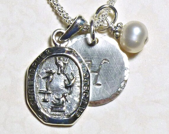 Gymnastics Protect Us St Christopher Medal Sterling Silver Pendant Charm Necklace