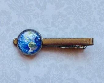 Planet Earth Gunmetal Tie Bar Tie Clip, Planet Tie Bar, Celestial Tie  Bar, Astronomy Tie Bar