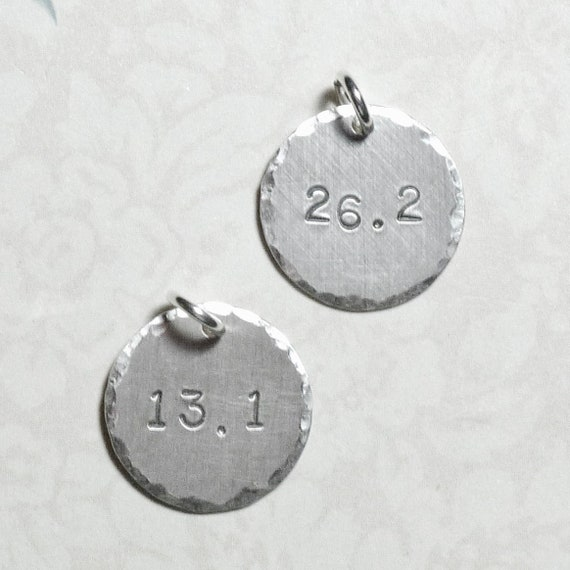 Add a Marathon Runner Hand Stamped Sterling Silver Charm - Choose 13.1 or 26.2