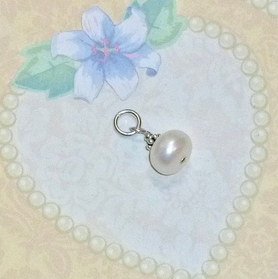 Add a Dangle Large White Cultured Freshwater Button Pearl Dangle