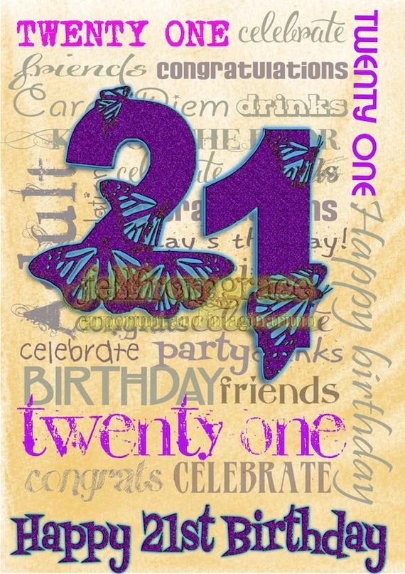 image regarding 21st Birthday Cards Printable known as Printable - Desirable 21st Birthday card Quick down load