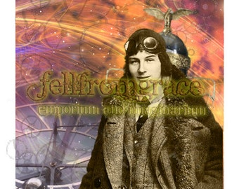Printable - Download now - Steampunk Someone Special card (Mr Fokker)  - Original  Card Artwork