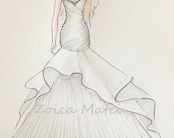 9a726a78654 Wedding dress sketch