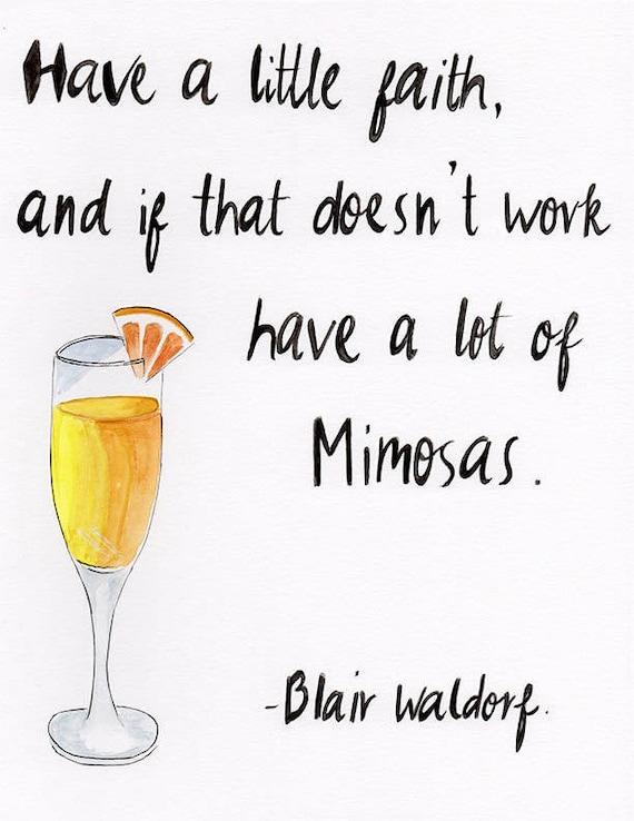 Blair Waldorf Zitat Haben Ein Wenig Glauben Und Eine | Etsy
