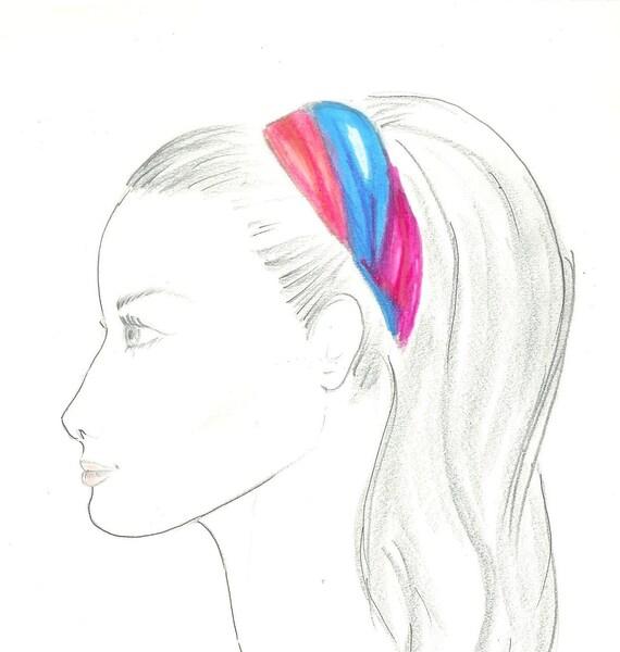 Crayon Portrait Dessin Esquisse Du Profil Fille Décoration De Chambre De Filles Portrait Dessin De Main