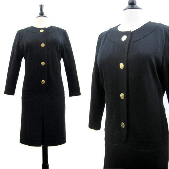 Vintage Givenchy Dress 80s Nouvelle Boutique Black