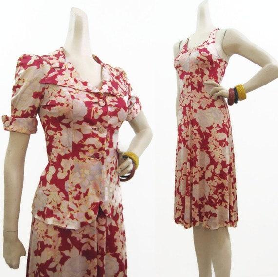 Vintage 70s does 40s Dress Suit Climax David Howar