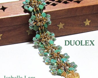 Czech Mates SuperDuo Rulla Pearls and Swarovski Beads Bracelet tutorial Pdf for personal use only