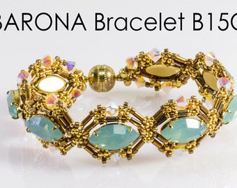 BARONA Beadwork Bracelet Pdf tutorial instructions for personal use only