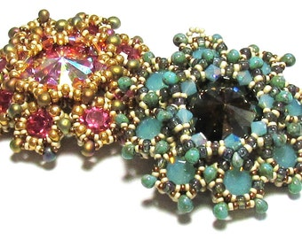 LORRO Pendant  PDF Beading tutorial with SuperDuo beads for personal use only