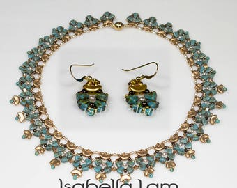Neet  NIB BIT and ARCOS Beadwork Necklace and Earrings Pdf tutorial instructions for personal use only