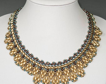 ARAMIS GemDuo and SuperDuo Beadwork Necklace Pdf tutorial instructions for personal use only