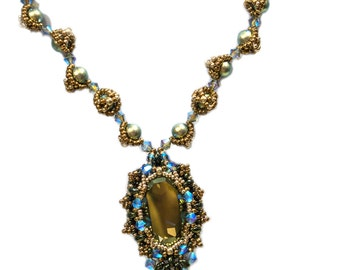 MADONA MiniDuo Pendant and Necklace Beadwork  Pdf tutorial instructions for personal use only