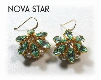 NOVA STAR Swarovski Rivoli Earrings tutorial instructions for personal use only