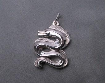 Moray eel pendant -  Sterling silver