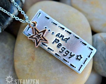 And Peggy - Hamilton Inspired Handstamped Necklace - Personalized Necklace - Hamilfan Gift - Actor Gift - Theater Gift - Unisex