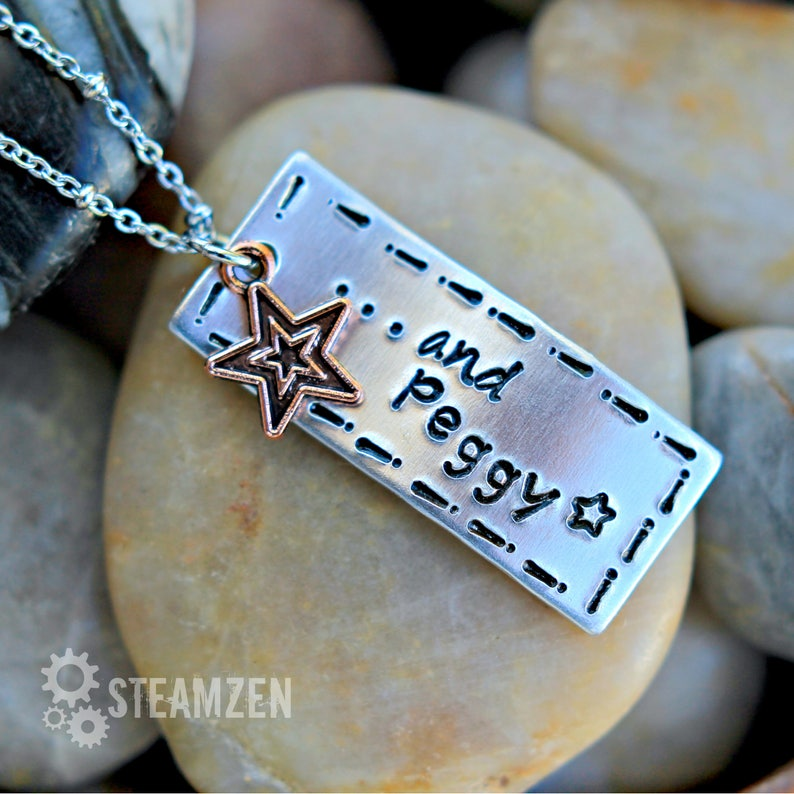 And Peggy  Hamilton Inspired Handstamped Necklace  image 0