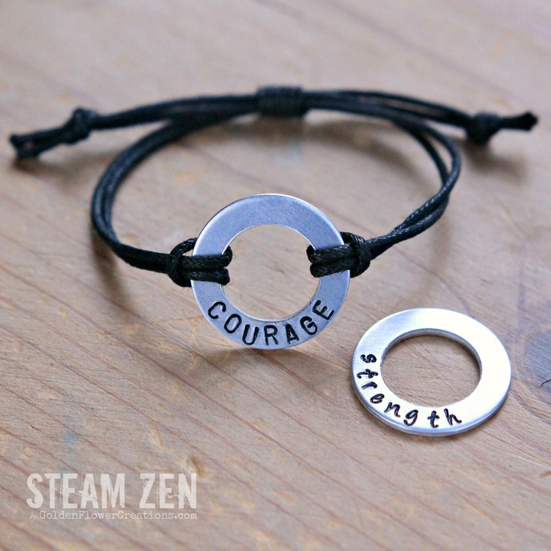 Own Your Positive Word  Personalized Affirmation Bracelet  image 0