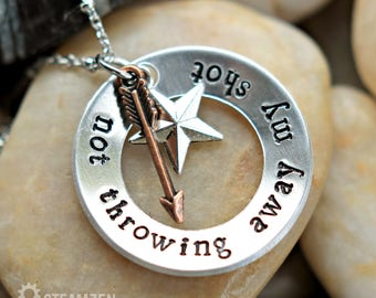 "Hamilton ""Not Throwing Away My Shot"" Charm Necklace - Hamilton Fan - Hamilfan Gift - Unisex - 2017 Holiday Bestseller"
