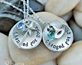 """Wicked the musical inspired """"Changed for good"""" Necklace with Swarovski Crystals - Bestfriends Gift - Unisex - 2017-2018 Holiday Bestseller"""