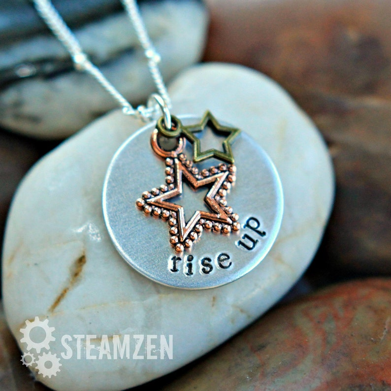 Hamilton Rise Up Star-Studded Charm Necklace  image 0