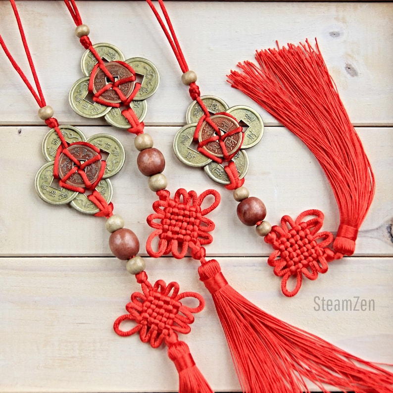 Chinese Coin Lucky Charm Tassel  Feng Shui Goodluck Charm  image 0