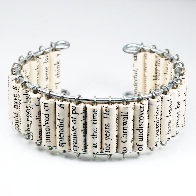 Agatha Christie Bracelet Miss Marple Paper Bead Cuff image 0