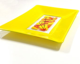 yellow centrepiece, yellow decor, yellow sunshine, yellow glass, yellow decoration, yellow table decoration, SUNRISE ANTICIPATION, 33x44cms
