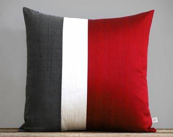 Silk Colorblock Pillows