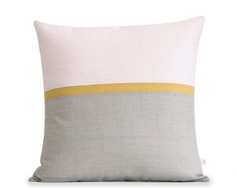 Blush Horizon Line Pillow Cover with