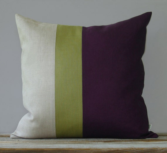Purple And Green Decorative Pillows