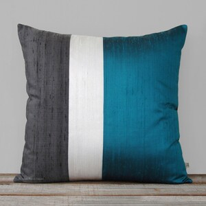 Teal pillow cover | Etsy