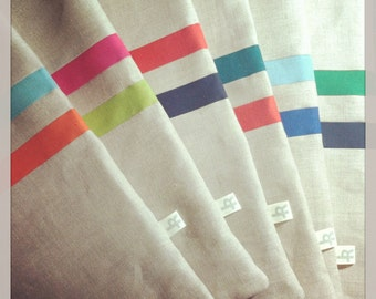CUSTOM Striped Linen Pillow (16x16) - Colorful Home Decor by JillianReneDecor - Multicolor Stripes - Colorful Pillows